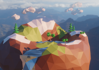 Floating Island – Low Poly