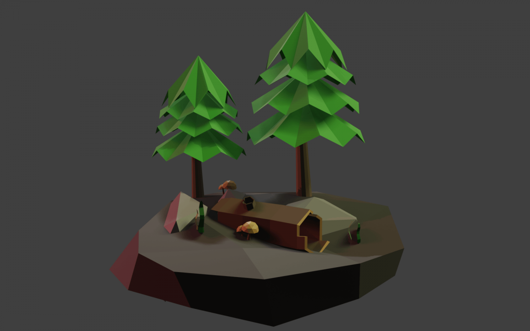 Low-poly Nature Scene